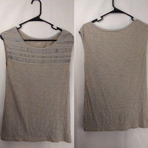 Loft by Ann Taylor  grey sleeveless tunic size S